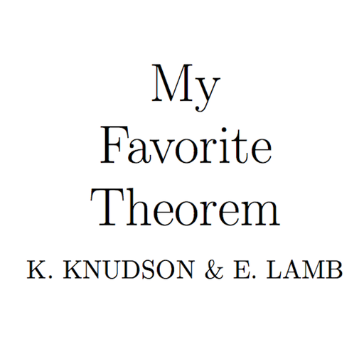 Episode 45 - Your Flash Favorite Theorems My Favorite Theorem podcast